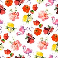 Bright summer seamless pattern.