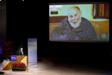 Rene-Jean Essiambre presents the Nobel Lecture in Physics by Nobel Prize laureate Arthur Ashkin at the Aula Magna, Stockholm University, in Stockholm