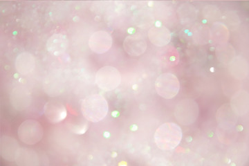 Abstract pink glittery bokeh background