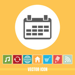 very Useful Vector Icon Of Calendar with Bonus Icons Very Useful For Mobile App, Software & Web