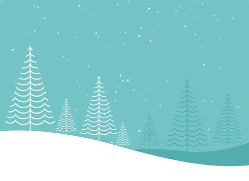 minimal creative winter christmas tree lanscape design