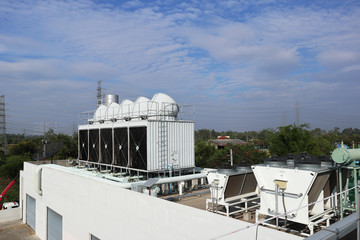 Cooling Tower on the Roof Deck