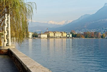 Lugano Lake, Switzerland. Views and panoramas