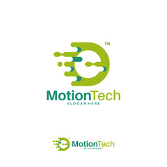 Fast Move O Initial Technology logo template, Motion O Letter Tech logo symbol, Logo icon template