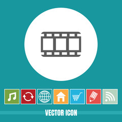 Very Useful Vector Icon Of Video Roll with Bonus Icons. Very Useful For Mobile App, Software & Web.