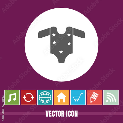 Very Useful Vector Icon Of Baby Cloth with Bonus Icons  Very Useful