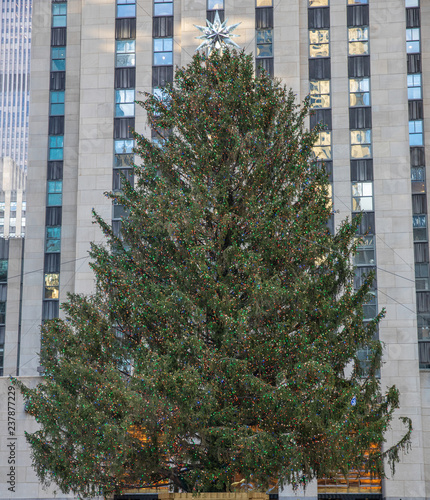 Fototapete Christmas tree in Manhattan. Rockefeller Center