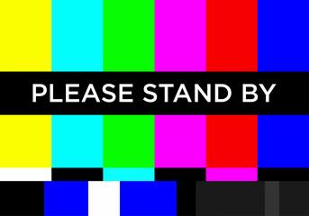 No TV Signal Chanel Program Background Template, Design Vector Eps 10 Fototapete