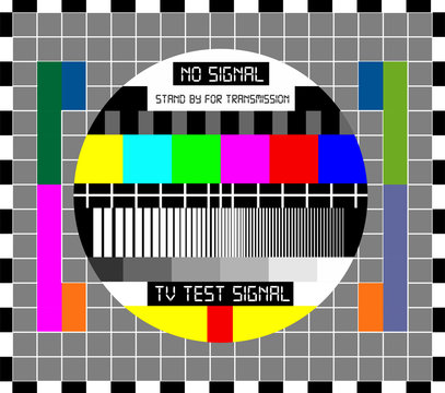 No TV Signal Chanel Program Background Template, Design Vector Eps 10