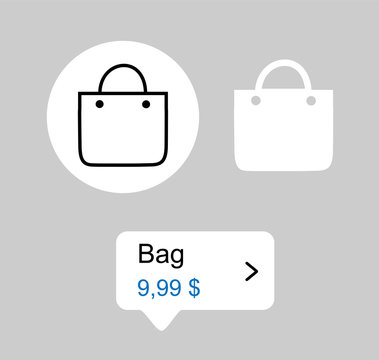Shop set vector shopping tags instagram