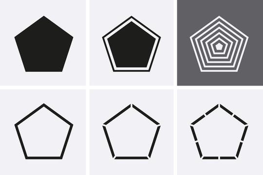 Pentagon Icon set