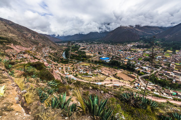 Peruvian village in the Andes valley