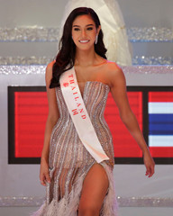 Runner-up Miss World 2018 Thailand Nicolene Limsnukan takes part in the 68th Miss World pageant in Sanya