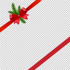 Christmas Background With Christmas Tree Transparent Background