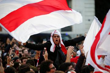 River Plate fans ahead of the Copa Libertadores match between River Plate and Boca Juniors