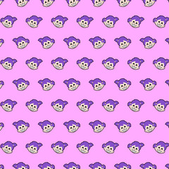 Little girl - emoji pattern 02