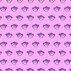 Little girl - emoji pattern 11