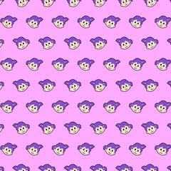 Little girl - emoji pattern 19