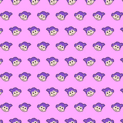 Little girl - emoji pattern 24