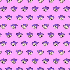 Little girl - emoji pattern 34