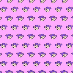 Little girl - emoji pattern 63