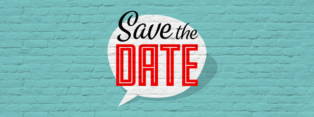 Save the date Wall mural