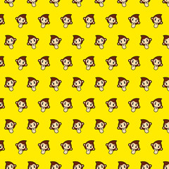 Monkey - emoji pattern 22