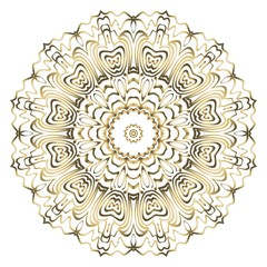 Mandala. for design, greeting card, invitation, coloring book. Arabic, Indian, motifs. Vector illustration.