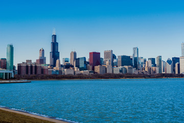 Photo sur Toile Chicago Chicago skyline at day time