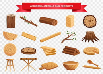 Wood Material Products Set