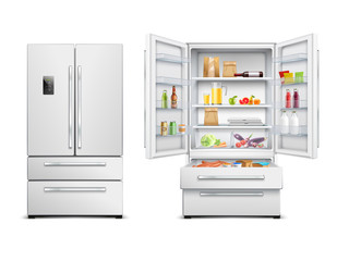 Realistic Refrigerator Cabinet Collection
