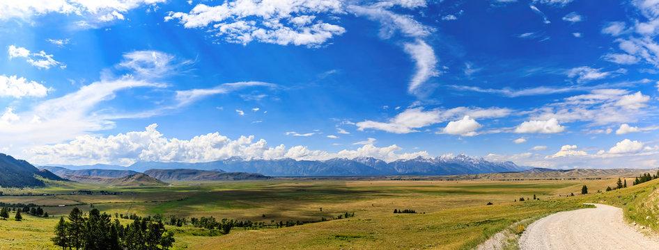 Panorama, Curtis Canyon, Elk Range, WY