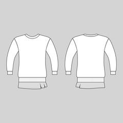 T shirt man template (front, back views)