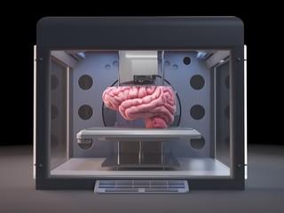 Printer printing brain
