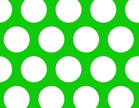 Large Green Polka Dots