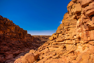 Beauty of Color Canyon in Egypt