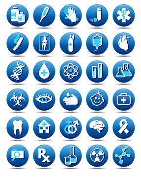 Medical Healthcare Icons Collection, Symbols - Set of vector Medical Stylish Pharmaceutical Symbols, for use in your products and presentations.