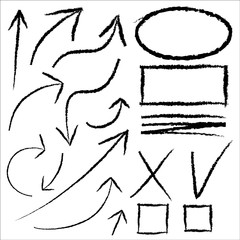 SET OF ARROWS AND GRAPHIC ELEMENTS