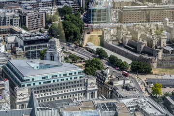 Beautiful panorama of London city taken from above, United Kingdom