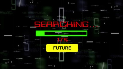 Wall Mural - Searching for future online