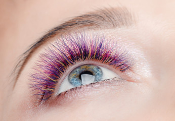 Eyelash extension procedure.