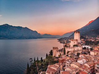 Lake Lago Garda - view of Malcesine village.