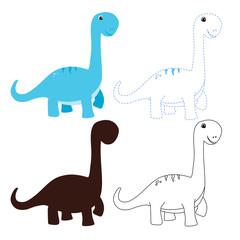 dinosaur worksheet vector design