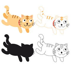 cat worksheet vector design