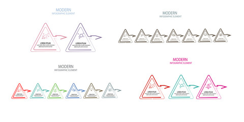 simple triangle infographic template