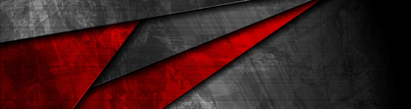 Red and black grunge material banner design