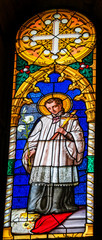 Catholic Prest Stained Glass Baptistery Cathedral Pisa Italy