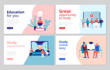 Online Education Concept Banners