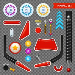 Pinball Elements Transparent Icon Set