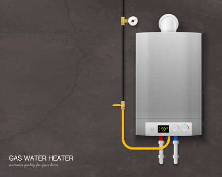 Realistic Gas Water Heater Boiler Composition